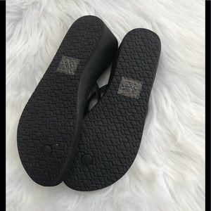 737c6650dea Reef Shoes - Reef Krystal Star Wedge Flip Flops 8 Black